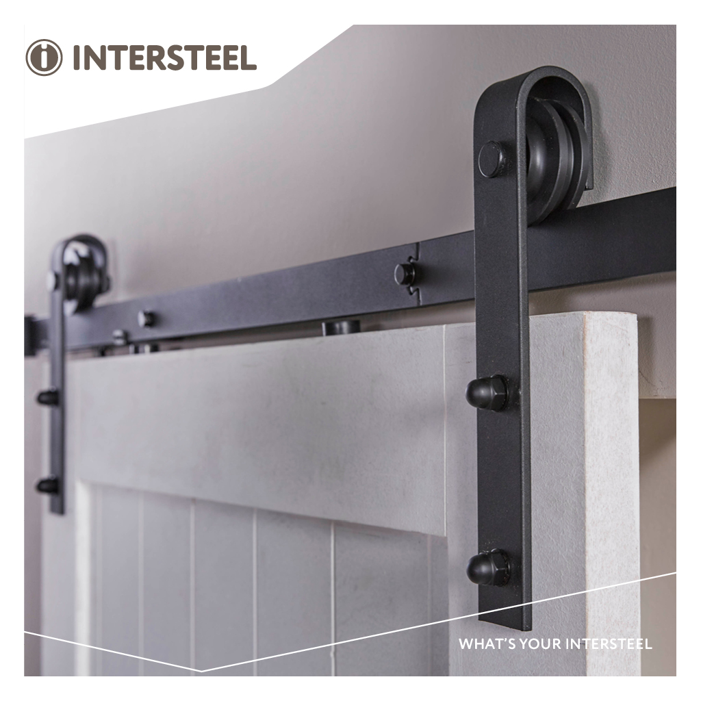 Intersteel Schuifdeursysteem Basic mat zwart
