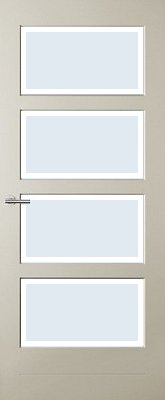 Austria Barneveld Blank Facetglas binnendeur