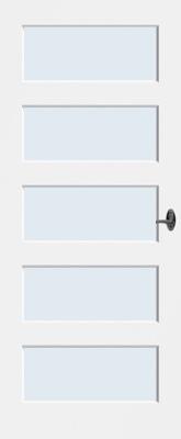 Bruynzeel BRZ NR 13 Blank glas binnendeur