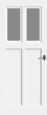 Bruynzeel BRZ NR 21 Satijn Facetglas binnendeur