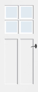 Bruynzeel BRZ NR 22 Blank Facetglas binnendeur