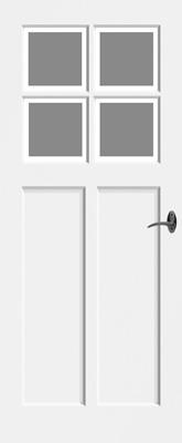 Bruynzeel BRZ NR 22 Satijn Facetglas binnendeur