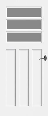 Bruynzeel BRZ NR 40 Satijn Facetglas binnendeur