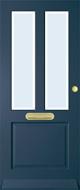 Bruynzeel BRZ 42 301 blank facet isolatieglas buitendeur