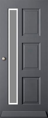 Austria Voorburg satijn block isolatieglas buitendeur