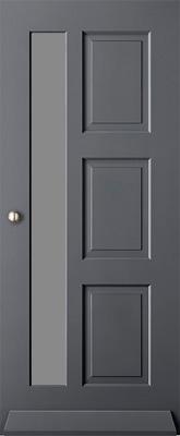 Austria Voorburg satijn isolatieglas buitendeur
