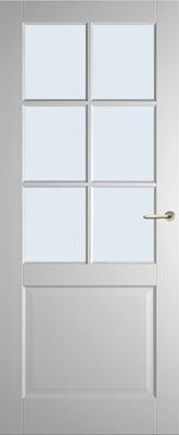 Weekamp WK6522 A1 Blank glas binnendeur