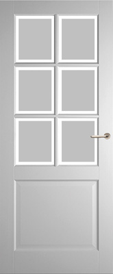 Weekamp WK6522 A1 Satijn Facetglas binnendeur