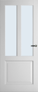 Weekamp WK6552 B2 Blank glas binnendeur