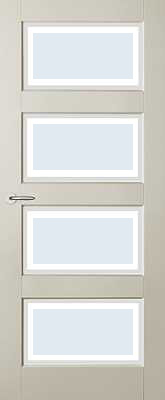 Austria Jersey Blank Facetglas binnendeur