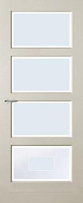Austria Perpignan Blank Facetglas binnendeur