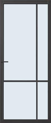 CanDo Lincoln Zwart Blank glas binnendeur