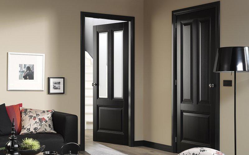 Bekend zwarte deuren en kozijnen jo26 for Top deuren