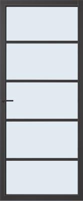 CanDo Springfield Zwart Blank glas binnendeur