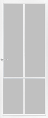CanDo Topeka Wit Satijn glas binnendeur