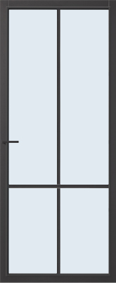 CanDo Topeka Zwart Blank glas binnendeur