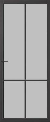 CanDo Topeka Zwart Satijn glas binnendeur