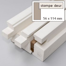 Kozijn stomp hardhout 56 x 114 mm gegrond