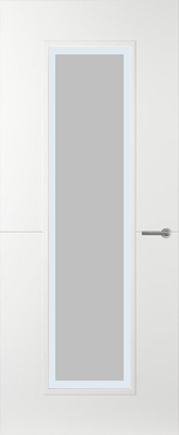 Svedex Linea AL51 Satijn glas met blanke rand binnendeur