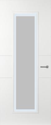 Svedex Linea AL55 Satijn glas met blanke rand binnendeur