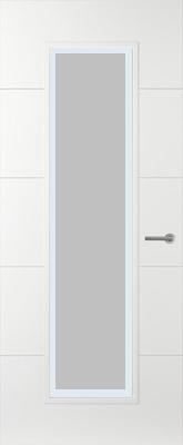 Svedex Linea AL54 Satijn glas met blanke rand binnendeur