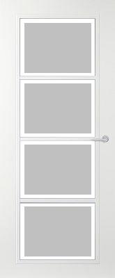 Svedex Connect CN07 Gezandstraald glas met blankglas rand binnendeur