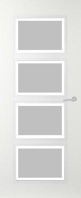 Svedex Elite AE34 Gezandstraald glas met blankglas rand binnendeur