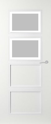 Svedex Elite AE49 Gezandstraald glas met blankglas rand binnendeur