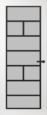 Svedex FR505Z Satijn glas binnendeur