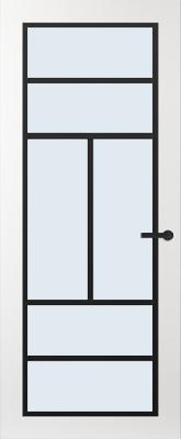 Svedex FR507Z Blank glas binnendeur