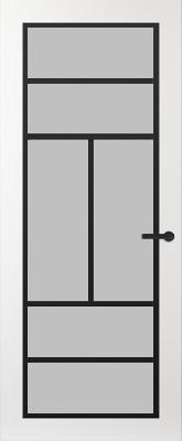 Svedex FR507Z Satijn glas binnendeur
