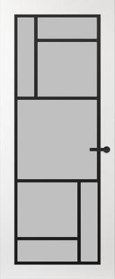 Svedex FR509Z Satijn glas binnendeur