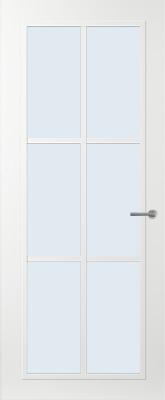 Svedex FR511W Blank glas binnendeur