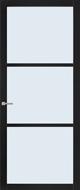 Weekamp WK 6306 Zwart afgelakt Blank glas binnendeur