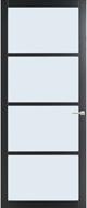 Weekamp WK 6308 zwart afgelakt blank glas 93.0 x 211.5 opdek links binnendeur