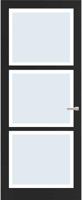 Weekamp WK 6356 Blank facetglas binnendeur