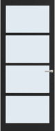 Weekamp WK 6358 Blank glas binnendeur
