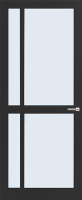 Weekamp WK 6361 Zwart afgelakt Blank glas binnendeur