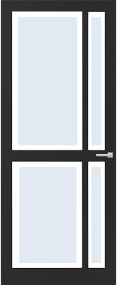 Weekamp WK 6362 Blank facetglas binnendeur